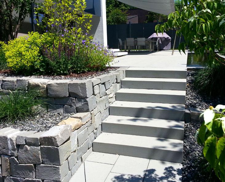 Gartenbau | Gartengestaltung | Designelement Betontreppe | Freiraum Schmid