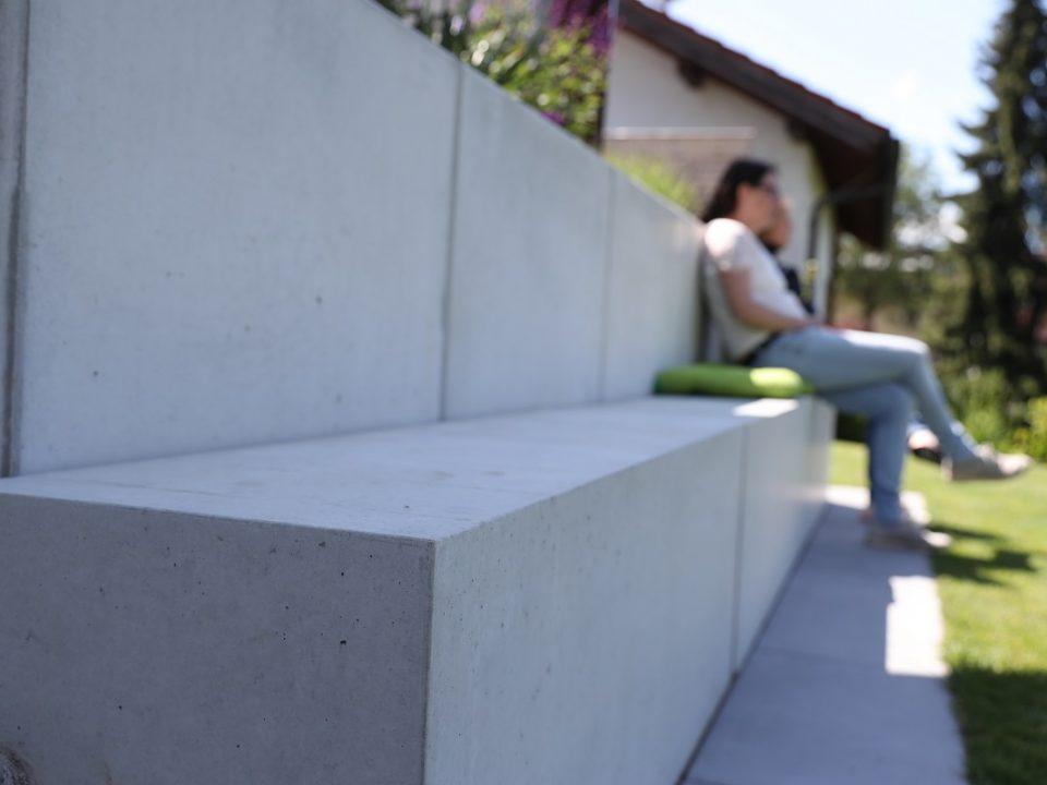 Projekte | Designgarten | Sitzblöcke | Sichtbeton