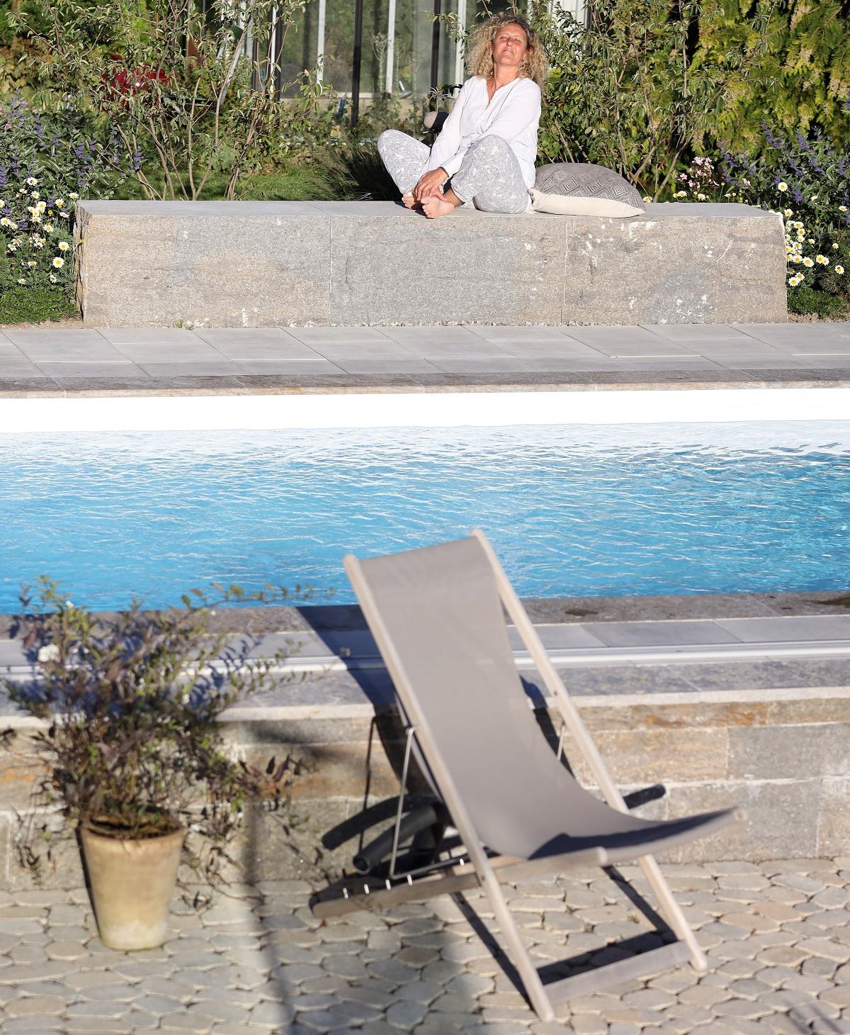 Poolbau | Poolgarten | Sitzblock